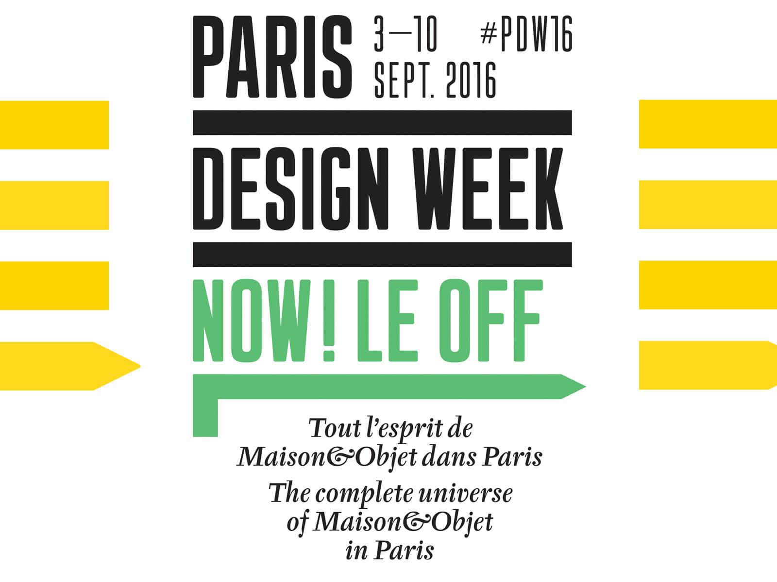 Logo Paris Design Week 2016