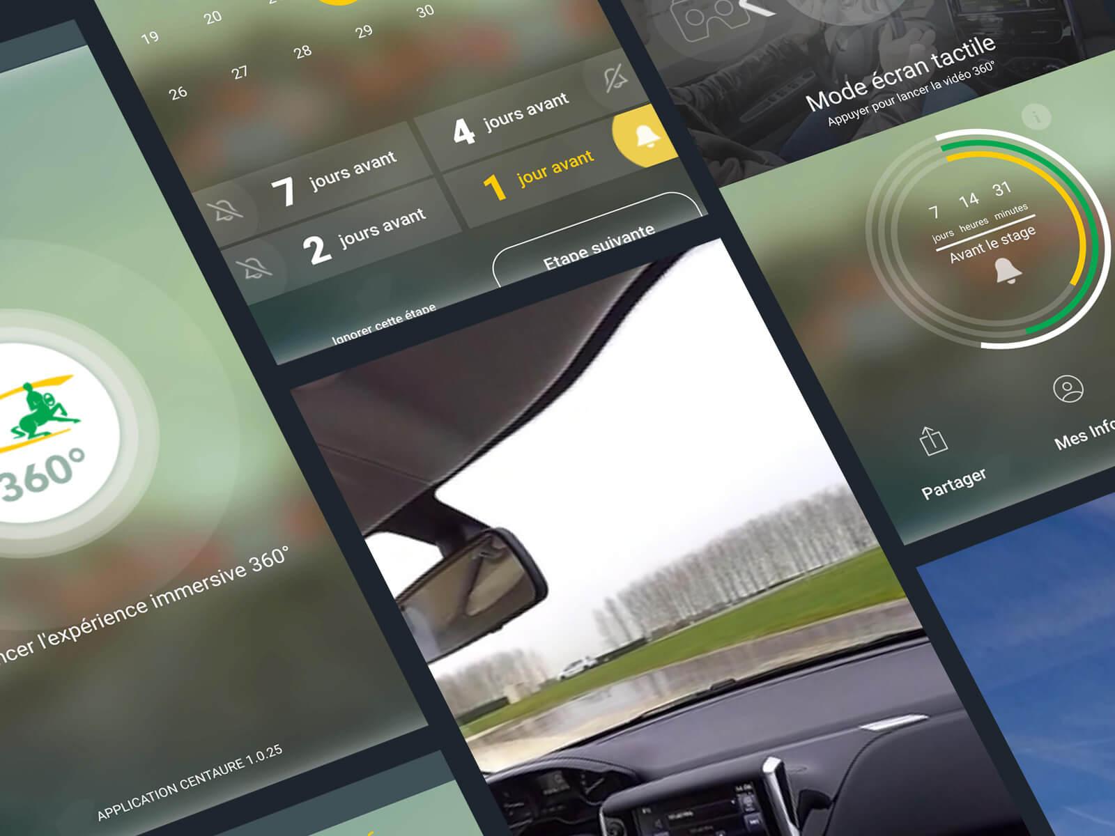 Application mobile Android et iPhone pour Centaure