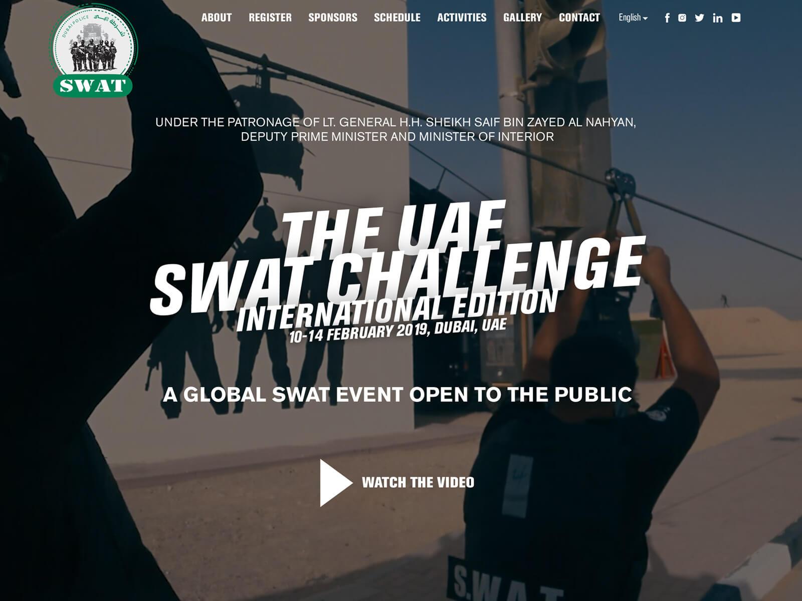Site Internet UAE SWAT CHALLENGE