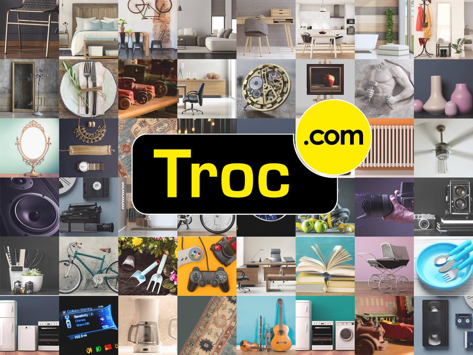 Troc.com : Développement du site Internet avec moteur conversationnel et forte porésence SEO pour gain de visibilité