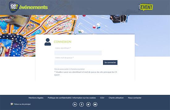 Accueil et identification de la billetterie digitale du CE RATP
