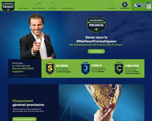 Accueil du Championnat de France des Pronos
