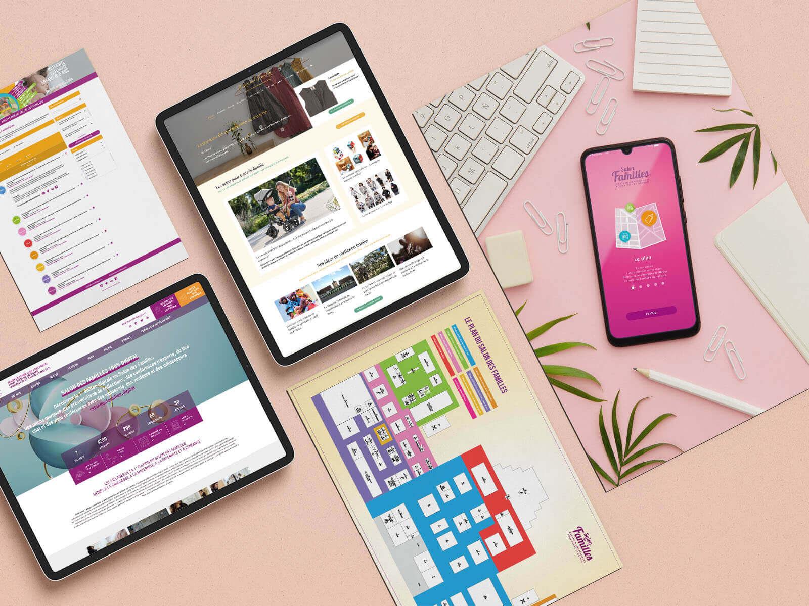 Portfolio des assets digitaux développés par Mediactive pour Babycool Paris