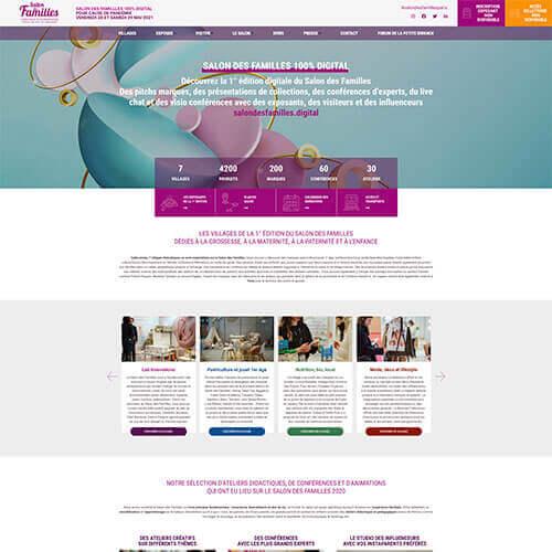 Site Internet développés par Mediactive pour Babycool Paris faisant partie de la stratégie digitale de l'événement